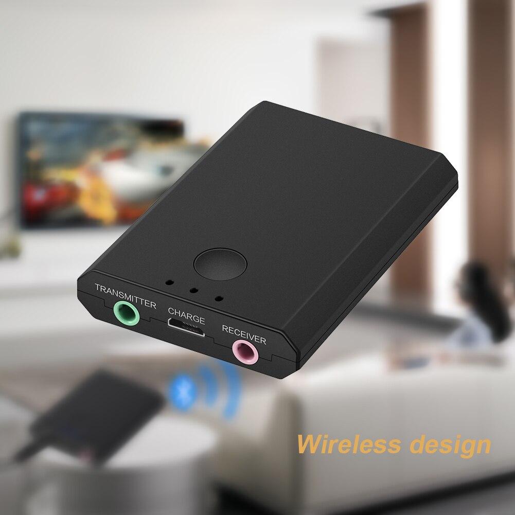 2 In1 Draadloze 3.5mm Auto Luidspreker Ontvanger Muziekspeler Oortelefoon Adapter Receptor Bluetooth Stereo Receiver Audio Zender