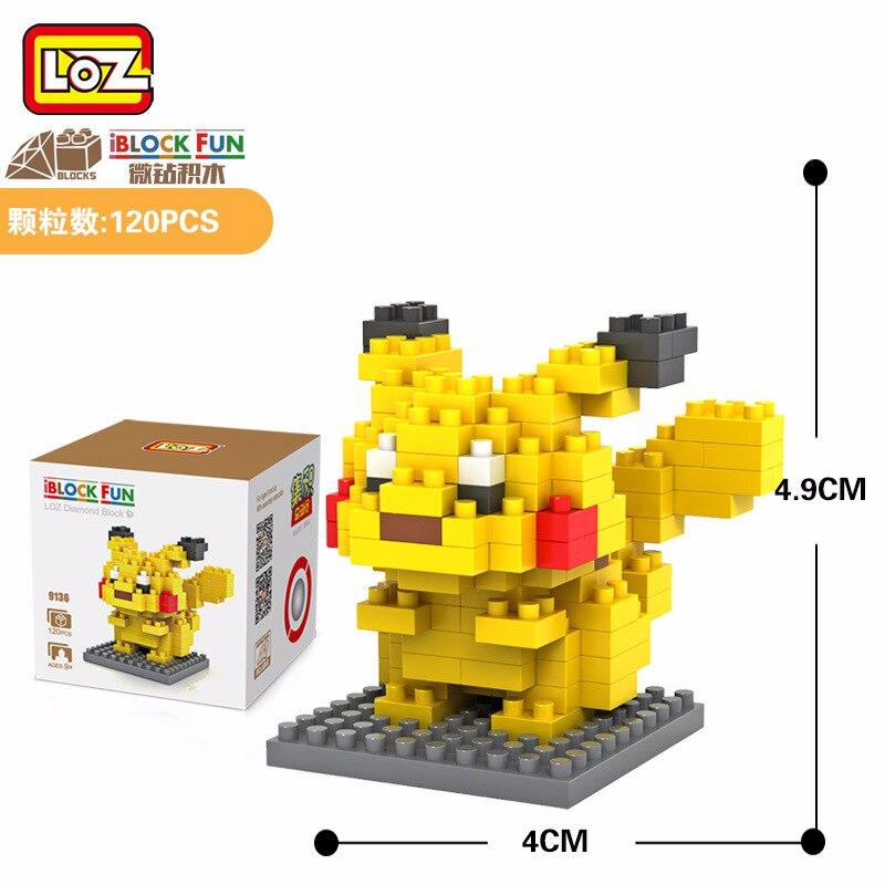 LOZ Blocs Mini Figure Animale Jouets Educatifs Blocs de Construction Jouets Briques Jouet Jeu Micro En Plastique Pikachu
