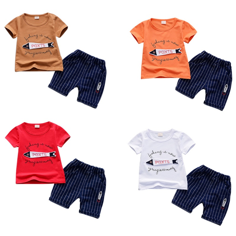 2PCS 1-4T Summer Fashion Hot Selling Boys Short-sleeved Top+Plaid Shorts Two-piece Set Children Suit Baby Clothing Set2PCS 1-4T Summer Fashion Hot Selling Boys Short-sleeved Top+Plaid Shorts Two-piece Set Children Suit Baby Clothing Set