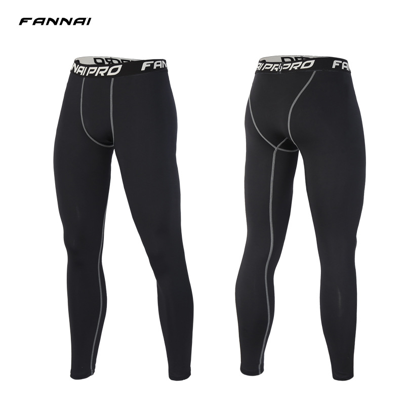 Compression Pants Men Tights Quick Dry Sweatpants Casual Slim Fit Track Pants Elastic Active Pro Trousers Mens Joggers