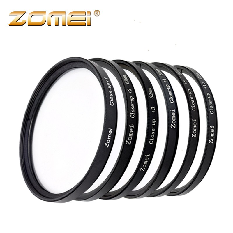 цена на Zomei Macro Close Up Filter Kit for Sony Nikon Canon EOD D5200 D7100 and GoPro Lens Filter - 52/55/58/62/67/72/77/82mm