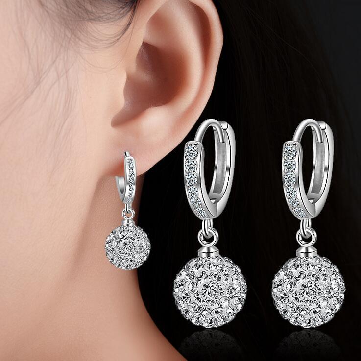 2017 neue ankunft heißer verkauf mode Shambhala kristall 925 sterling silber ladies'stud ohrringe weiblichen schmuck großhandel geschenk