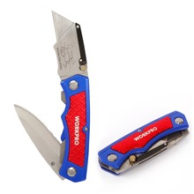WORKPRO Twin Blade Utility Knife Aluminum handle Folding Knife Multi Tool Cutter