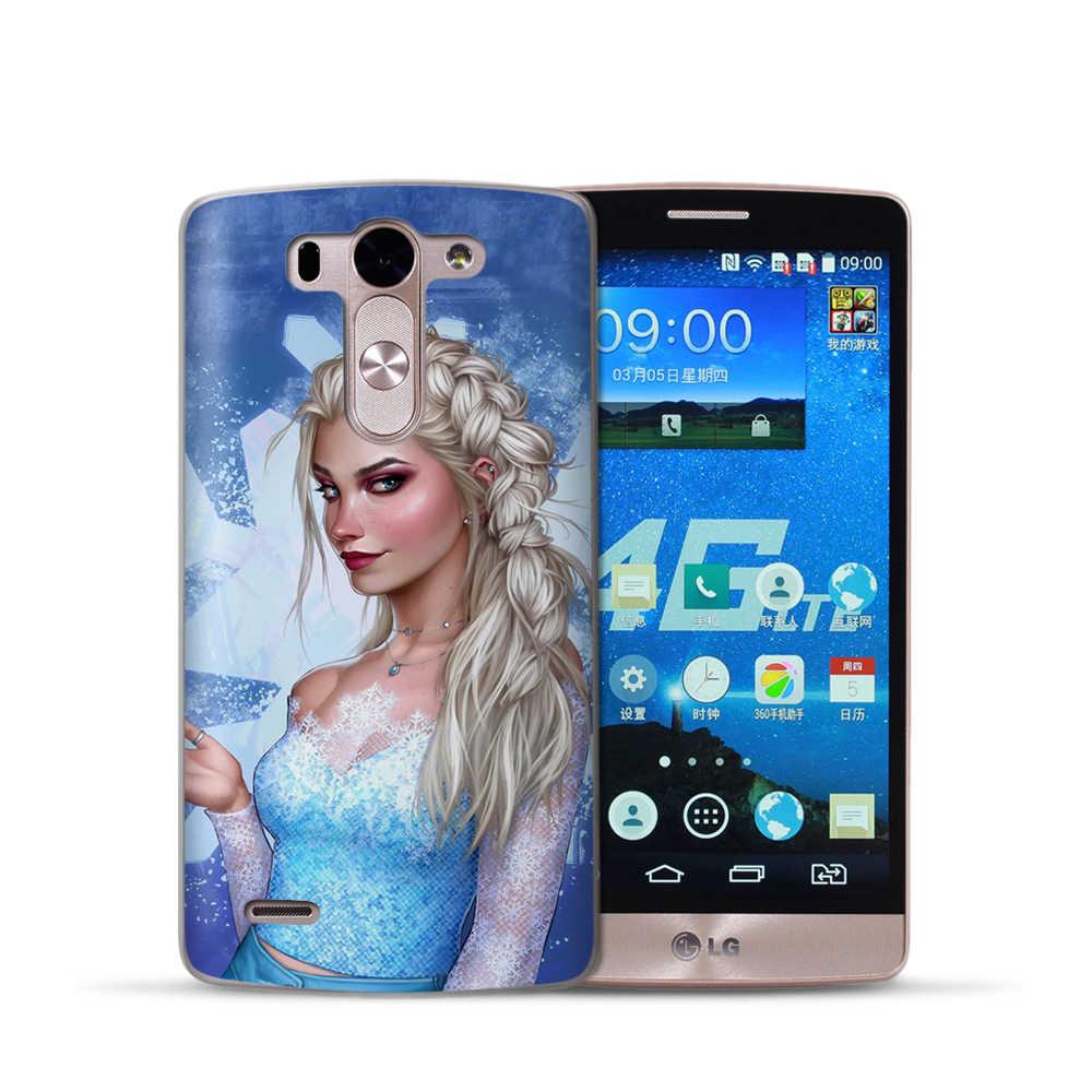 Thời trang Công Chúa Tuyết Trắng Cô Bé Lọ Lem Aurora Coque Trường Hợp Đối VỚI LG G6 Q6 Q7 Q8 G7 XPower 2 V30 Q8 K7 k8 K10 2017 2018 XScreen Etui