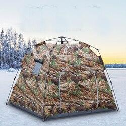 ¡Aumenta la tienda de pesca de hielo de 1,7 metros de grosor! Tienda de pesca totalmente automática de invierno cálido de algodón grueso profesional