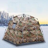 Yükseltmek 1.7 metre kalın buz balıkçı çadırı! Profesyonel kalın pamuk sıcak kış tam otomatik balıkçı çadırı