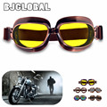 New Arrive Retro Vintage Motorcycle Goggles Motorbike Flying Scooter Aviator Helmet Glasses Outdoor Sports Eyewear Free Shipping
