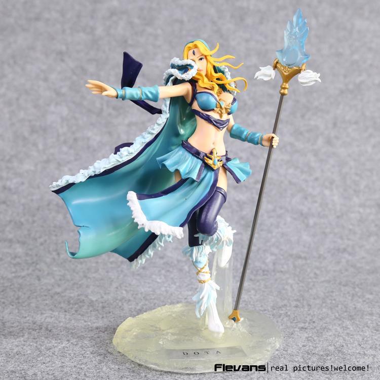 ФОТО DOTA 2 Crystal Maiden PVC Action Figure Collectible Model Toy 20cm LLFG068