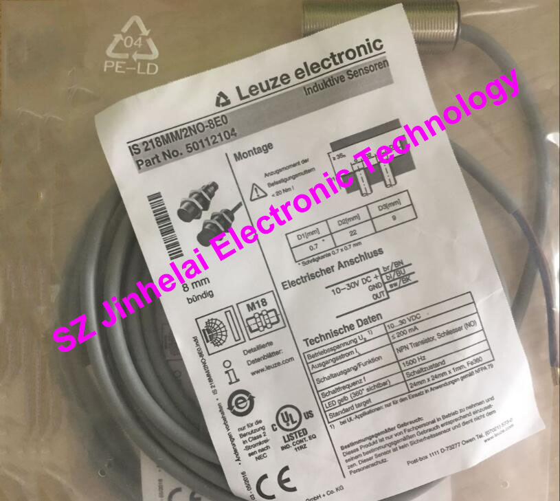 IS 218MM/2NO-8E0 (IS 218MM/2NO-8EO)  New and original Germany LEUZE Proximity switch, Proximity sensor balluff proximity switch sensor bes 516 383 eo c pu 05 new high quality one year warranty
