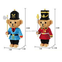 hot LegoINGlys creators Classic Little bear soldier micro diamond building blocks model doll figures nanoblock bricks toys gift