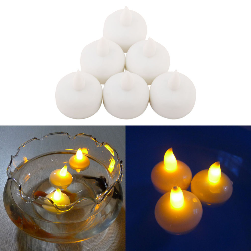 100pcs water sensor flameless led floating tealight candle for Decoration candles
