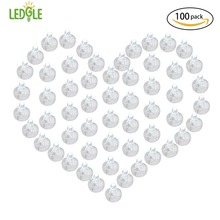 LEDGLE Mini LED Balloon Lights White Round Flash Ball Lamps Non-blinking Party Daylight Light