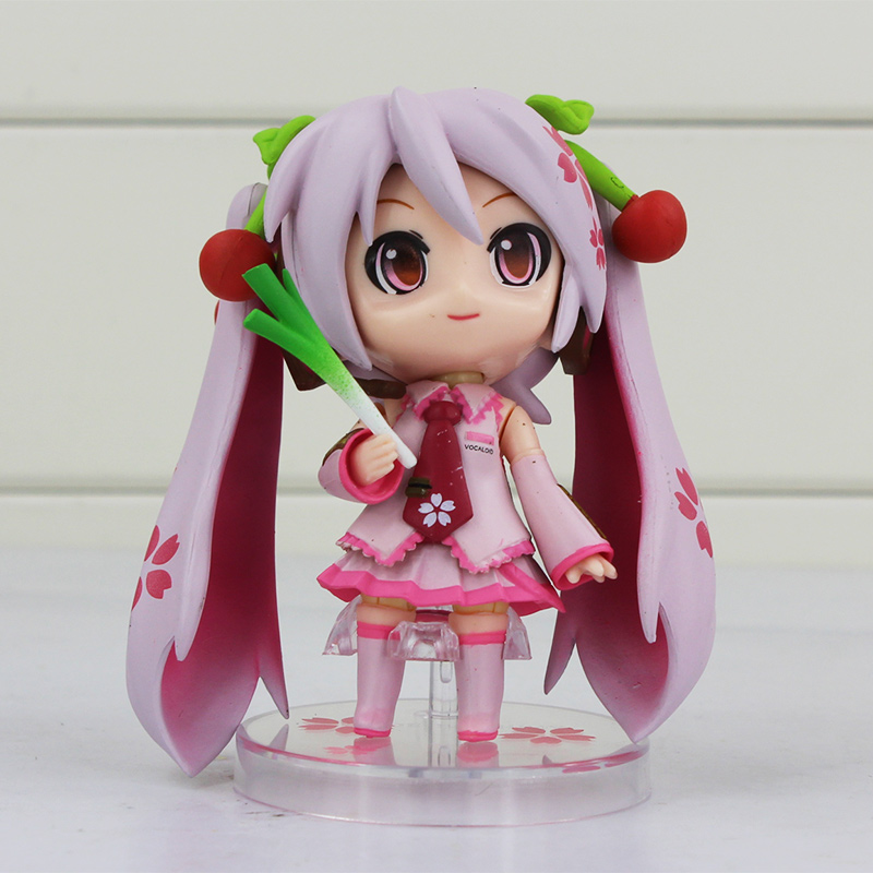 <font><b>New</b></font> 97a <font><b>Anime</b></font> Nendoroid <font><b>Vocaloid</b></font> <font><b>Hatsune</b></font> <font><b>Miku</b></font> <font><b>Sakura</b></font> Face Changable Action Figure Doll Free shipping