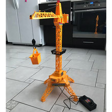 1:64 Electric Remote Control Tower Crane Cable Channel 4 Remote Control Toys Engineering Crane Educational Toys For Children(China)