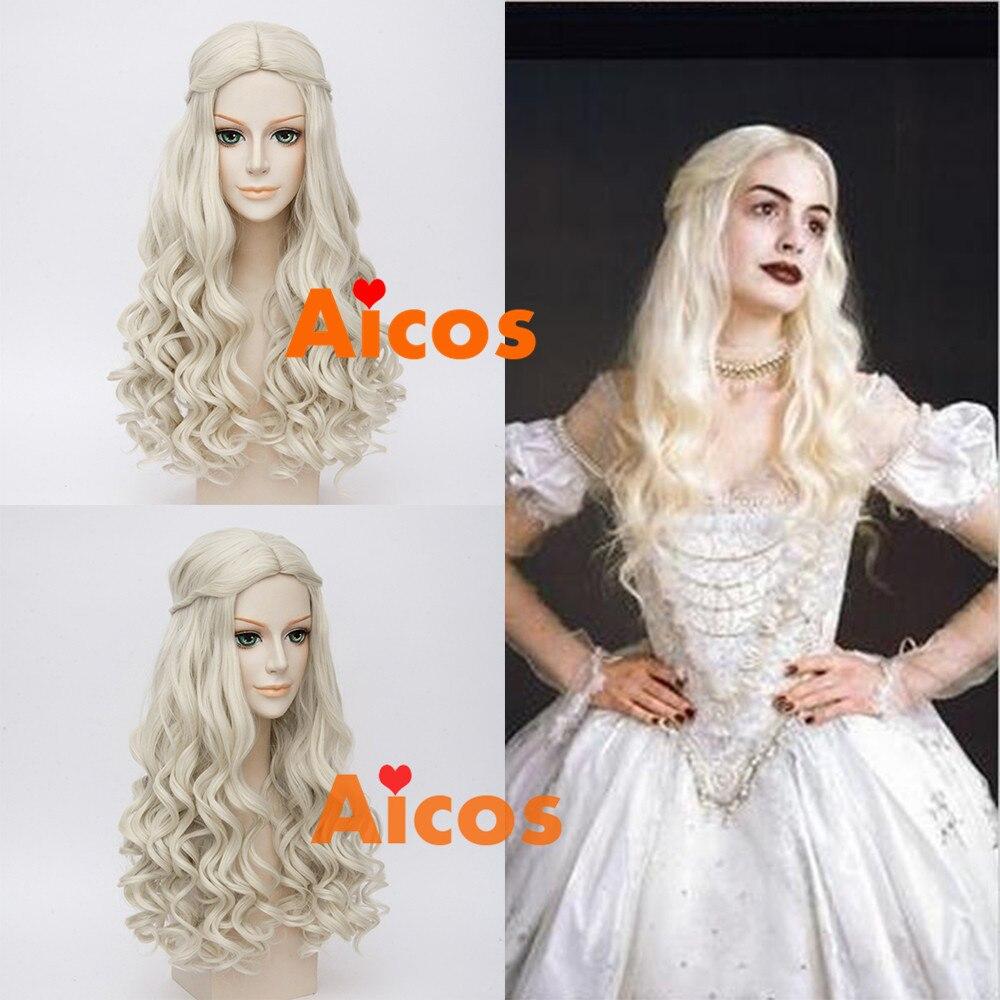 Alice Im Wunderland Weiße Königin Cosplay Perücke Hellblonde