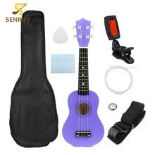 SENRHY Guitar Combo 21″ Soprano Ukulele Uke Hawaii Bass Guitar Guitarra Musical Instrument Set Kits+Tuner+String+Strap+Bag Hot