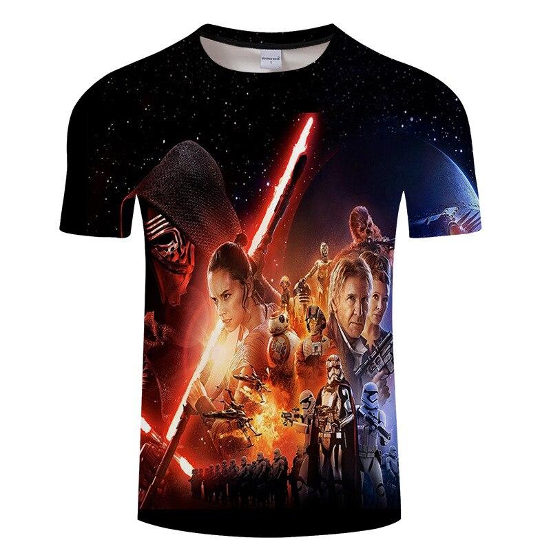 2018 Nouvelle Mode Darthworks Conception Hommes T-shirt À Manches Courtes Hippie Star Wars Tops Le Darth Roi Imprimé t shirts Cool te S-6XL