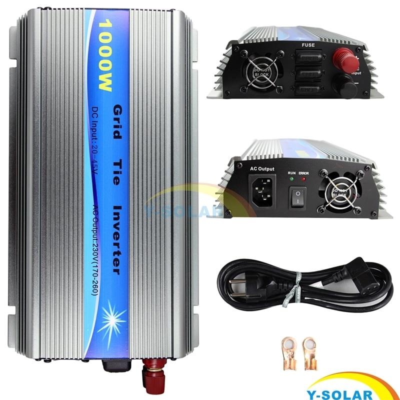 1000W MPPT Function 30V/36V Grid Tie Inverter Pure Sine Wave 110V Output 60 72 CELLS Panel Input on Grid Tie Inverter 110v 220v 250w on grid tie inverter with mppt function dc 10 8 30v input to ac pure sine wave output