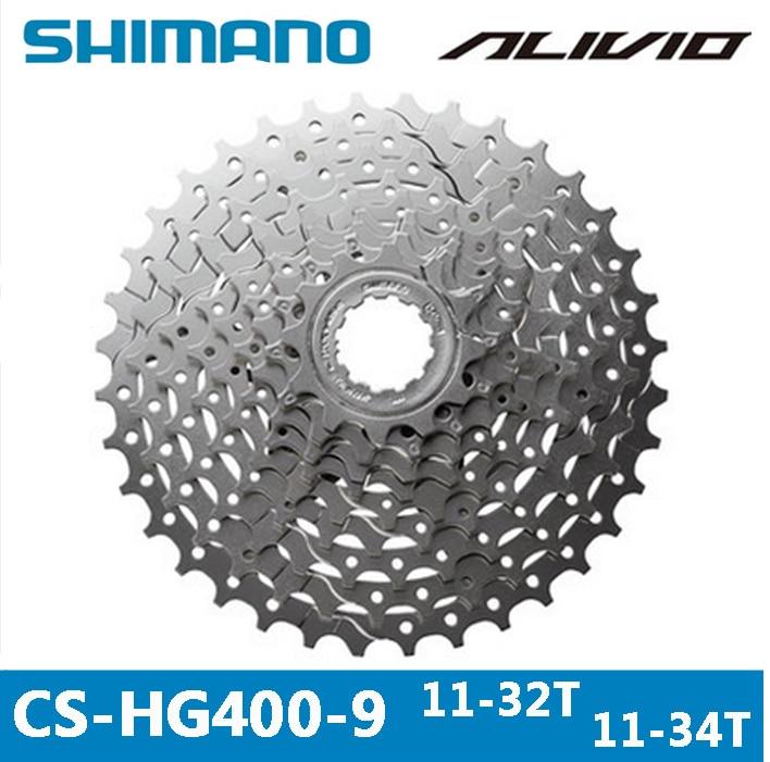 cassette shimano hg400 9sk 11 32 - SHIMANO ALIVIO CS-HG400-9 MTB Mountain Bike Bicycle 9S Cassette Freewheel 9/27 Speeds Flywheel 11-32T/34T  Bicycle Parts  gear