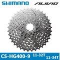 SHIMANO ALIVIO CS-HG400-9 MTB Mountainbike Fiets 9 S Cassette Vrijloop 9/27 Snelheden Vliegwiel 11-32 T/34 T Fiets Onderdelen gear