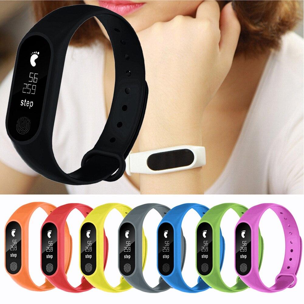 M2 Sport Pedometer Smart Armband Herz Rate Bluetooth V4.0 Intelligente Uhr Männliche uhr Elektronische herren uhren top-marke luxus