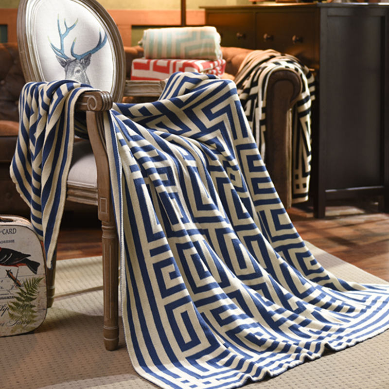 Free shipping 100% cotton fashion  high quality knit blanket for sofa/bed/home beige/red/green/brown/gray color  цены