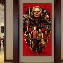 цена на Canvas Print Painting Poster 3 Piece/Set Game Wolfenstein II The New Colossus Picture Wall Art Home Decorative Modular Framework