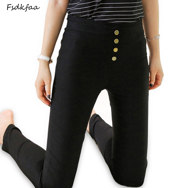 New Women   Pants   Female Elastic High Waist   Pants   Women Warm Slim Full Length Plus Size Trousers black   Pants   &   Capris   Stretchable