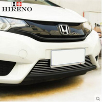 Stainless Steel Car Racing Grills For Honda Fit Jazz 2014 Front Grill Grille Cover Trim Car
