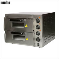 Xeoleo Electric Pizza Oven Stainless Steel Pizza Machine Double Layer Baking Oven 350 Degree Baker Machine