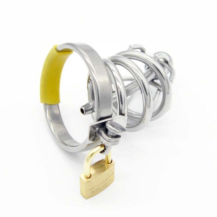 New-Stainless-Steel-Male-Chastity-Device-with-Catheter-Cock-Cage-Virginity-Lock-Penis-Ring-Penis-Lock (3)