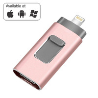 3 in 1 USB Flash Drives for iPhone/Android 16G 32GB 64GB 128GB USB Stick OTG Pen Drive Usb 3.0 External Thumb Drive Memory Stick