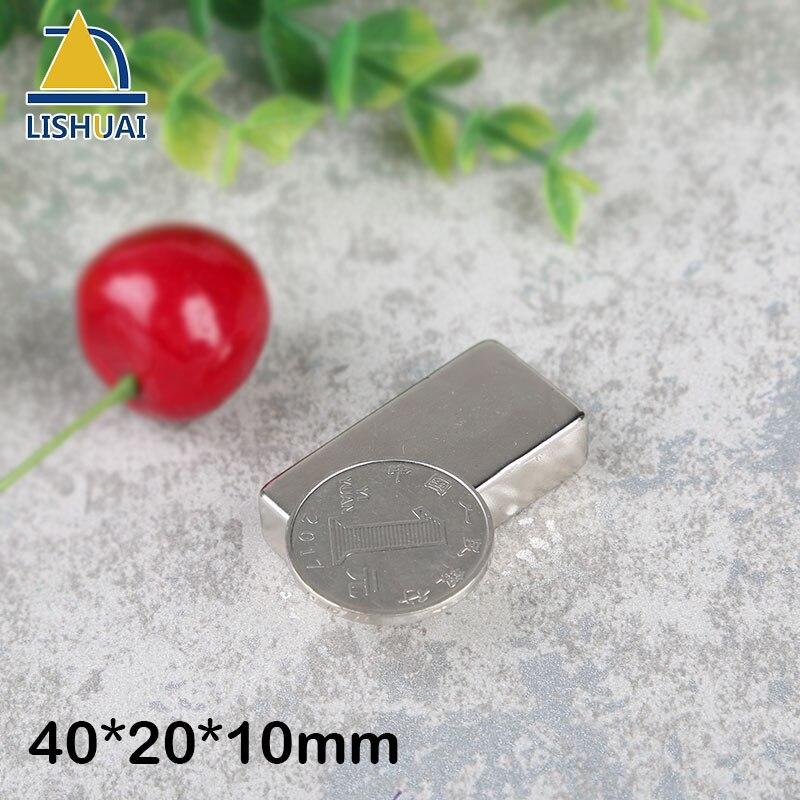 LISHUAI 2pcs 40 x 20 x 10 mm N35 Super Strong Block Neodymium Magnets Rare Earth Magnet 40 20 n35 4pcs n35 ndfeb d40x20 mm strong magnet lodestone super permanent neodymium d40 20 mm d 40 mm x 20 mm magnets