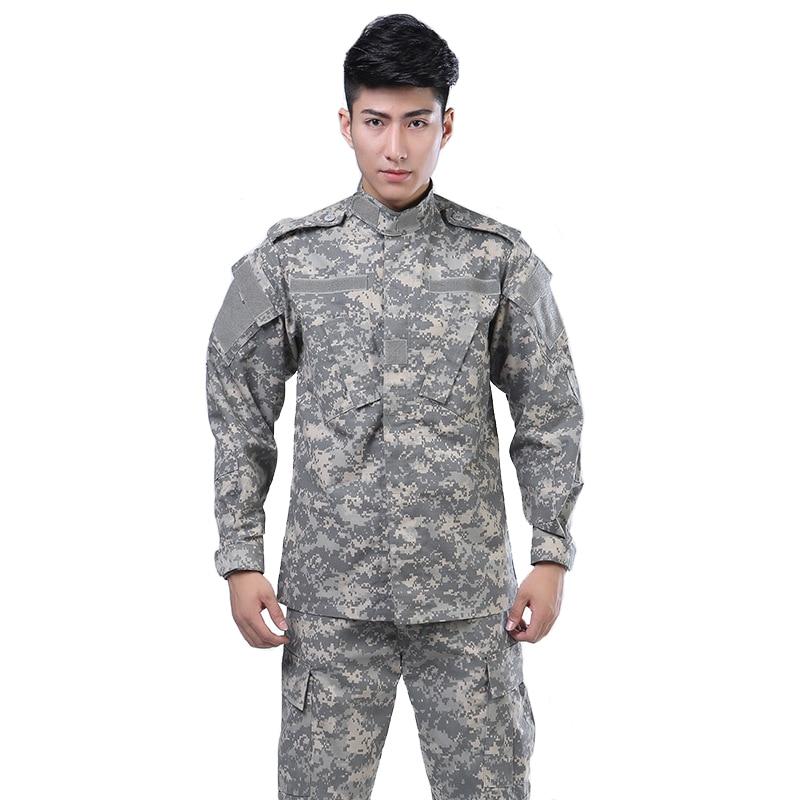 軍事戦術制服スーツ特殊部隊戦闘パンツ + ジャケット陸軍迷彩列車エアガンペイントボールスーツハント作業服  グループ上の メンズ服 からの メンズセット の中 1