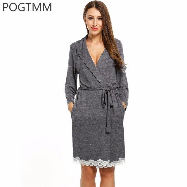 Aliexpress.com : Buy Cotton Lace Kimono Bathrobe Sleepwear Nightwear ...