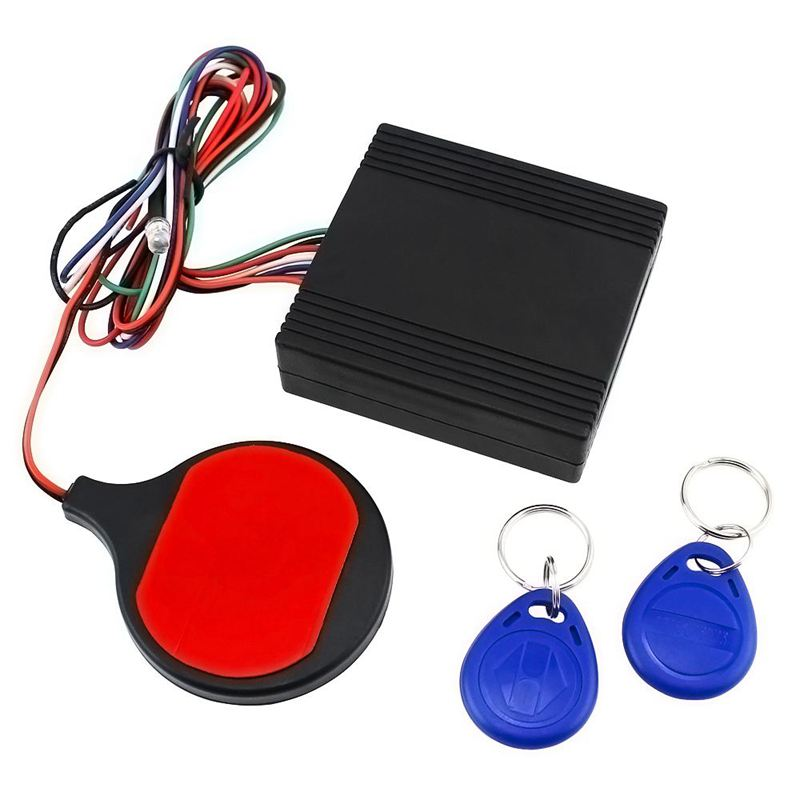 Anti Theft Motorcycle Hidden Lock System With Engine Cut Off Immobilizer IC Card Alarm Induction Invisible Anti-steal Lock