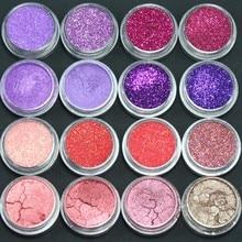 16 смешанных цветов Тени для век косметическая пудра макияж салон набор для художников