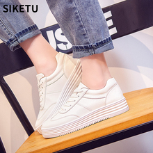 New Fashion White Sneakers For Women Comfortable Lace-up Flats Shoes Woman Leisure Flat Sneakers Thick bottom Casual Shoes
