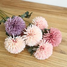 Dandelion flower ball pompom simulation artificial home Christmas decor wedding holding road lead fake wall