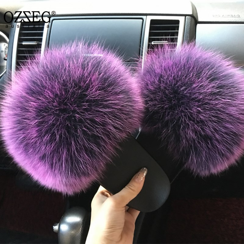 2018 hot Sale thickness bottom Women Fur Slippers Luxury Real Fox Fur Beach Sandal Shoes Fluffy Comfy Furry Flip Flops2018 hot Sale thickness bottom Women Fur Slippers Luxury Real Fox Fur Beach Sandal Shoes Fluffy Comfy Furry Flip Flops