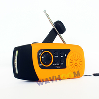 Protable Crank Solar Radio FM Radio TF/MP3 Player Emergency Phone Charger 2000mAh Crank Flashlight