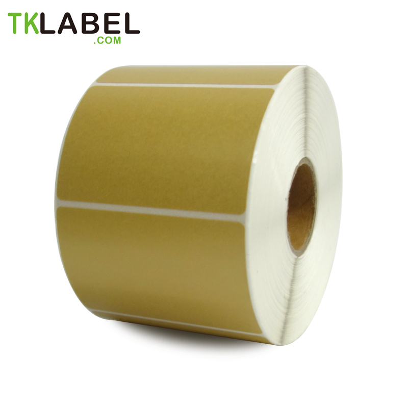 <font><b>60</b></font> mm x <font><b>40</b></font> mm, roll of 800 labels, gold color direct thermal barcode label rolls for label printer 2 roll/lot image