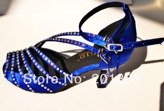Wholesale Women Blue Satin Diamante