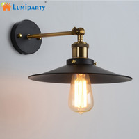 LumiParty Loft Vintage Wall Lamp Metal Glass Retro Antique Ceiling Lamp Metal Lampshade Industrial Decor Lighting