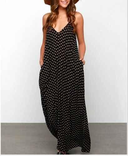 Новинка, сексуальное женское летнее платье с открытыми плечами, бохо, Длинное Макси платье для праздников, вечеринок, Пляжное Платье от солнца, клетчатое черное платье с v-образным вырезом, размер 6-14
