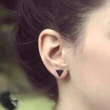 Новые модные золотые черные Серебряные 3 западные треугольные круглые серьги-гвоздики для женщин, подарки