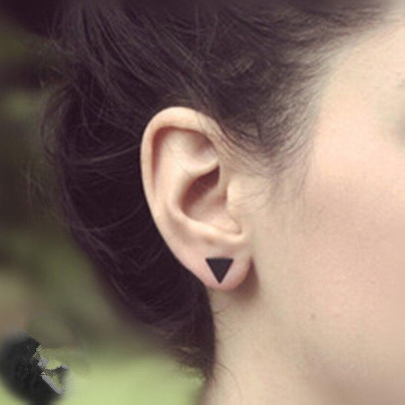Купить на aliexpress Новые модные золотые черные Серебряные 3 западные треугольные круглые серьги-гвоздики для женщин Подарки Оптом