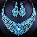 Joyería de La Boda africana Chapado En Oro Rhinestones Llenos Collar Pendientes establecidas para Las Mujeres dubai sistemas de La Joyería