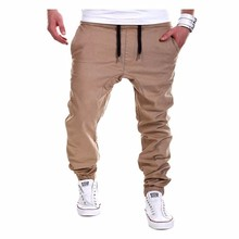 The New 2017 Mens Joggers Male Trousers Men Pants Mallas Hombre Elastic Cross Pants Sweatpants Jogger khaki Pantalones XXXL QXZA