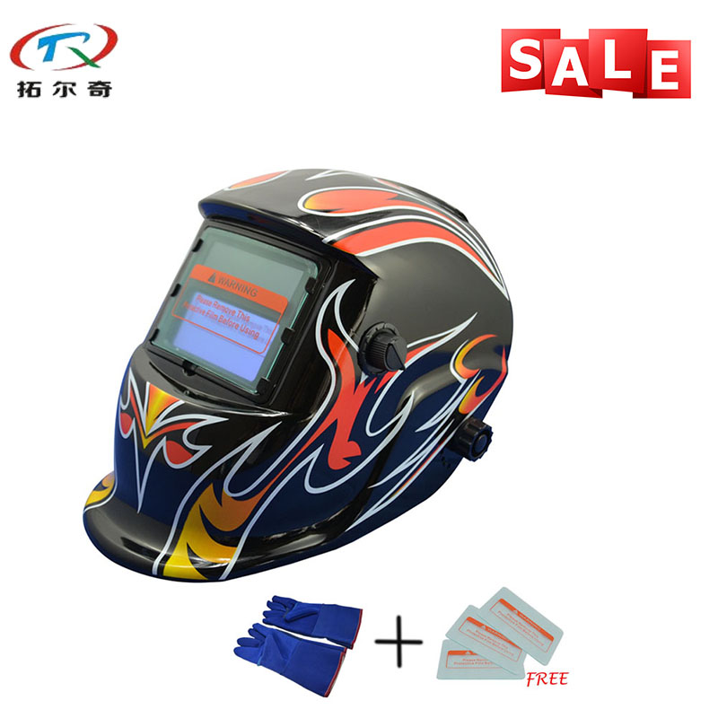 Motivated Fast Delivery Shading Adjustable Grinding Helmets Electronic Custom Auto Darkening Welding Helmet/goggles Trq-hd05-2233ff-bg Goods Of Every Description Are Available Tools